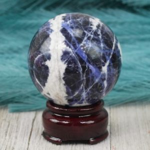 60mm Sodalite Crystal Sphere | Natural genuine stones & crystals in various shapes & sizes. Buy raw cut, tumbled, or polished gemstones for making jewelry or crystal healing energy vibration raising reiki stones. #crystals #gemstones #crystalhealing #crystalsandgemstones #energyhealing #affiliate #ad