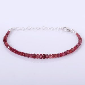 Shop Spinel Bracelets! Natural Shaded Red Spinel Bracelet Natural Ombre Red Spinel Bracelet August Birthstone Bracelet Sterling Silver Bracelet Red Spinel Bracelet   Natural genuine Spinel bracelets. Buy crystal jewelry, handmade handcrafted artisan jewelry for women.  Unique handmade gift ideas. #jewelry #beadedbracelets #beadedjewelry #gift #shopping #handmadejewelry #fashion #style #product #bracelets #affiliate #ad