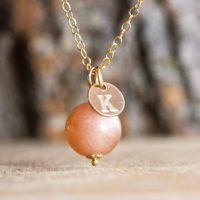 Sunstone Initial Pendant – Sunstone Necklace – Sunstone Choker – Personalized Gemstone Jewelry – Sunstone Jewelry   Natural genuine Gemstone jewelry. Buy crystal jewelry, handmade handcrafted artisan jewelry for women.  Unique handmade gift ideas. #jewelry #beadedjewelry #beadedjewelry #gift #shopping #handmadejewelry #fashion #style #product #jewelry #affiliate #ad