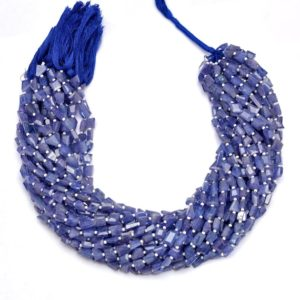 Shop Tanzanite Chip & Nugget Beads! AAA+ Tanzanite Gemstone 6x8mm-7x9mm Faceted Fancy Nuggets | Natural Tanzanite Precious Gemstone Tumbled Beads for Jewelry | 14inch Strand | Natural genuine chip Tanzanite beads for beading and jewelry making.  #jewelry #beads #beadedjewelry #diyjewelry #jewelrymaking #beadstore #beading #affiliate #ad