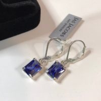 Beautiful 3ctw Emerald Cut Tanzanite & Sterling Silver Earrings Tanzanite Fine Jewelry Trends Tanzanite Earrings December Gift | Natural genuine Gemstone jewelry. Buy crystal jewelry, handmade handcrafted artisan jewelry for women.  Unique handmade gift ideas. #jewelry #beadedjewelry #beadedjewelry #gift #shopping #handmadejewelry #fashion #style #product #jewelry #affiliate #ad