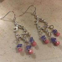 Purple And Pink Earrings – Tanzanite And Chalcedony Gemstone Jewelry – Silver – Chandelier   Natural genuine Gemstone jewelry. Buy crystal jewelry, handmade handcrafted artisan jewelry for women.  Unique handmade gift ideas. #jewelry #beadedjewelry #beadedjewelry #gift #shopping #handmadejewelry #fashion #style #product #jewelry #affiliate #ad