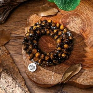108 Mala Beads Necklace-tigers Eye Stone Healing Balance Necklace-spiritual Protection Meditation Anxiety Stress Relief Necklace | Natural genuine Tiger Eye necklaces. Buy crystal jewelry, handmade handcrafted artisan jewelry for women.  Unique handmade gift ideas. #jewelry #beadednecklaces #beadedjewelry #gift #shopping #handmadejewelry #fashion #style #product #necklaces #affiliate #ad