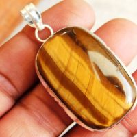 Tiger Eye Pendant, Healing Crystal Pendant, Stone Jewelry, Sterling Silver Pendant, Tiger Eye Gemstone Pendant, Tiger Eye Jewelry, p-468 | Natural genuine Gemstone jewelry. Buy crystal jewelry, handmade handcrafted artisan jewelry for women.  Unique handmade gift ideas. #jewelry #beadedjewelry #beadedjewelry #gift #shopping #handmadejewelry #fashion #style #product #jewelry #affiliate #ad