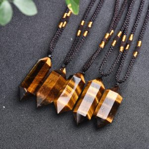 Raw Tiger's Eye Pendant Necklace-Natural Gemstone Healing Balancing Necklace-Meditation Grounding Calming Spiritual Protection Necklace Gift | Natural genuine Tiger Eye pendants. Buy crystal jewelry, handmade handcrafted artisan jewelry for women.  Unique handmade gift ideas. #jewelry #beadedpendants #beadedjewelry #gift #shopping #handmadejewelry #fashion #style #product #pendants #affiliate #ad