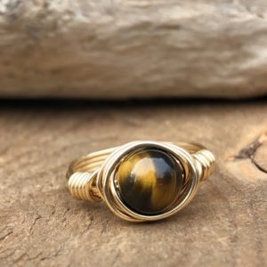 Meditation Ring – Worry Ring – Stress Ring – Protection Ring – Tiger Eye Ring – Courage Ring – Tiger Eye Jewerly – Protection Jewelry | Natural genuine Tiger Eye rings, simple unique handcrafted gemstone rings. #rings #jewelry #shopping #gift #handmade #fashion #style #affiliate #ad