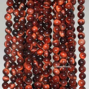 Shop Tiger Eye Round Beads! 4mm Red Tiger Eye Gemstone Brown Red Round 4mm Loose Beads 15.5 Inch Full Strand (90189217-90)   Natural genuine round Tiger Eye beads for beading and jewelry making.  #jewelry #beads #beadedjewelry #diyjewelry #jewelrymaking #beadstore #beading #affiliate #ad