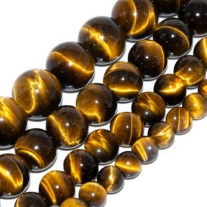 Yellow Tiger Eye Beads Grade AAA Genuine Natural Gemstone Round Loose Beads 6MM 8MM 10MM 12MM Bulk Lot Options | Natural genuine round Gemstone beads for beading and jewelry making.  #jewelry #beads #beadedjewelry #diyjewelry #jewelrymaking #beadstore #beading #affiliate #ad