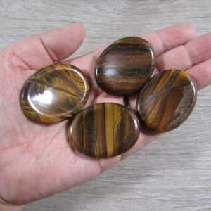 Shop Tiger Eye Shapes! Tiger Eye Worry Stone E16 | Natural genuine stones & crystals in various shapes & sizes. Buy raw cut, tumbled, or polished gemstones for making jewelry or crystal healing energy vibration raising reiki stones. #crystals #gemstones #crystalhealing #crystalsandgemstones #energyhealing #affiliate #ad