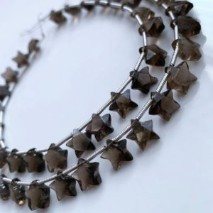 Shop Topaz Beads! Gorgeous smokey topaz faceted stars | Natural genuine beads Topaz beads for beading and jewelry making.  #jewelry #beads #beadedjewelry #diyjewelry #jewelrymaking #beadstore #beading #affiliate #ad