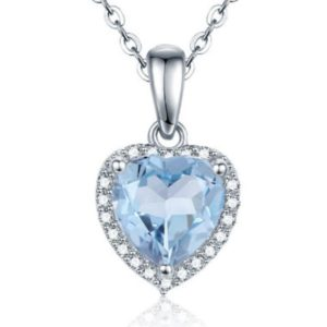 Shop Topaz Pendants! 100% Natural Heart Blue Topaz Pendants Women 925 Sterling Silver Pendant Necklaces Gift Jewelry, Glorious Pendant, Gift For Her | Natural genuine Topaz pendants. Buy crystal jewelry, handmade handcrafted artisan jewelry for women.  Unique handmade gift ideas. #jewelry #beadedpendants #beadedjewelry #gift #shopping #handmadejewelry #fashion #style #product #pendants #affiliate #ad