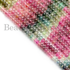 Shop Tourmaline Rondelle Beads! Natural Multi Tourmaline Beads, Multi Tourmaline Smooth Beads, Multi Tourmaline Rondelle Beads, Multi Tourmaline Plain Rondelle Shape Beads | Natural genuine rondelle Tourmaline beads for beading and jewelry making.  #jewelry #beads #beadedjewelry #diyjewelry #jewelrymaking #beadstore #beading #affiliate #ad