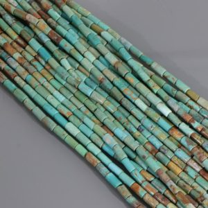 American Turquoise Tube Beads – Natural Turquoise Gemstone Beads For Jewelry Making Supply – 15 Inches   Natural genuine other-shape Gemstone beads for beading and jewelry making.  #jewelry #beads #beadedjewelry #diyjewelry #jewelrymaking #beadstore #beading #affiliate #ad