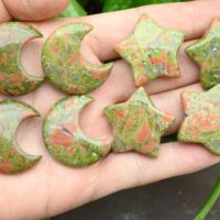 Unakite Moon / star Pendants, no Hole Moon / star Pendants, for Diy Jewelry Making, wholesale Pendants, gemstone Moon / star Pendants, gemstone Beads. | Natural genuine Gemstone jewelry. Buy crystal jewelry, handmade handcrafted artisan jewelry for women.  Unique handmade gift ideas. #jewelry #beadedjewelry #beadedjewelry #gift #shopping #handmadejewelry #fashion #style #product #jewelry #affiliate #ad