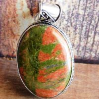 Natural Unakite Pendant, Designer Handmade Jewelry, Sterling Silver Pendant, Unakite Gemstone Pendant, unakite Jasper Pendant, (nj-16) | Natural genuine Gemstone jewelry. Buy crystal jewelry, handmade handcrafted artisan jewelry for women.  Unique handmade gift ideas. #jewelry #beadedjewelry #beadedjewelry #gift #shopping #handmadejewelry #fashion #style #product #jewelry #affiliate #ad