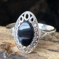 Unique Whitby Jet (north East Yorkshire Coast) 925 Sterling Silver Ring | Natural genuine Gemstone jewelry. Buy crystal jewelry, handmade handcrafted artisan jewelry for women.  Unique handmade gift ideas. #jewelry #beadedjewelry #beadedjewelry #gift #shopping #handmadejewelry #fashion #style #product #jewelry #affiliate #ad