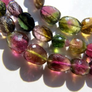 Shop Watermelon Tourmaline Beads! Watermelon Tourmaline nuggets • 15 inches • AAA micro faceted • Bicolour bicolor bi color rubellite • Natural genuine • Pink green | Natural genuine chip Watermelon Tourmaline beads for beading and jewelry making.  #jewelry #beads #beadedjewelry #diyjewelry #jewelrymaking #beadstore #beading #affiliate #ad