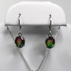 BEAUTIFUL 6ctw Watermelon Tourmaline Quartz Doublet Leverback Earrings Drop Dangle Sterling Silver Bi Color Tourmaline Jewelry Gift October | Natural genuine Watermelon Tourmaline earrings. Buy crystal jewelry, handmade handcrafted artisan jewelry for women.  Unique handmade gift ideas. #jewelry #beadedearrings #beadedjewelry #gift #shopping #handmadejewelry #fashion #style #product #earrings #affiliate #ad