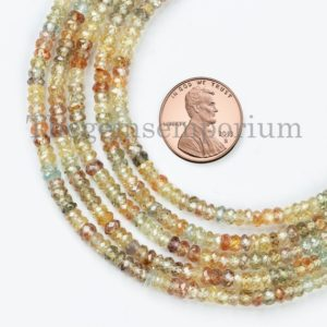 Shop Zircon Beads! Multi Zircon Faceted Rondelle Beads, Multi Zircon Disco Beads, Mix Color Zircon Beads, Multi Zircon Rondelle, Rondelle Beads   Natural genuine faceted Zircon beads for beading and jewelry making.  #jewelry #beads #beadedjewelry #diyjewelry #jewelrymaking #beadstore #beading #affiliate #ad