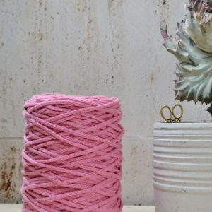 Shop Macrame Jewelry Tools! 3 Mm Bright Pink Cotton Cord, 120 M., Knotted / Braided, Macrame, Crochet, Knitting, Weaving, Craft Cord, 100% Natural Soft Rope | Shop jewelry making and beading supplies, tools & findings for DIY jewelry making and crafts. #jewelrymaking #diyjewelry #jewelrycrafts #jewelrysupplies #beading #affiliate #ad