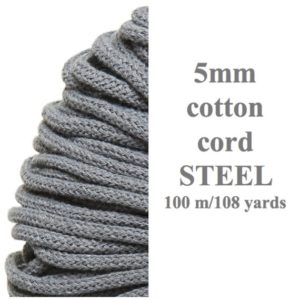 Shop Macrame Jewelry Tools! 5mm Cotton Cord / Bobbiny Crochet / Color Steel Braided Rope / recycled Cotton / diy Crochet / macrame Tools / fast Shipping / premium Quality Rope | Shop jewelry making and beading supplies, tools & findings for DIY jewelry making and crafts. #jewelrymaking #diyjewelry #jewelrycrafts #jewelrysupplies #beading #affiliate #ad