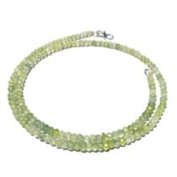 Aaa Quality Natural Prehnite Rondelle Faceted Necklace 3.5-4mm, Green Prehnite Necklace / prehnite Beads Necklace Ready To Wear / green Prehnite | Natural genuine Gemstone jewelry. Buy crystal jewelry, handmade handcrafted artisan jewelry for women.  Unique handmade gift ideas. #jewelry #beadedjewelry #beadedjewelry #gift #shopping #handmadejewelry #fashion #style #product #jewelry #affiliate #ad