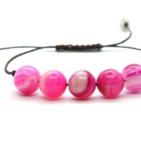 Adjustable Pink Banded Agate Bracelet, Banded Agate Bracelet, Pink Agate Bracelet, Pink Banded Agate Bracelet, Crystals Bracelet 10 Mm | Natural genuine Gemstone jewelry. Buy crystal jewelry, handmade handcrafted artisan jewelry for women.  Unique handmade gift ideas. #jewelry #beadedjewelry #beadedjewelry #gift #shopping #handmadejewelry #fashion #style #product #jewelry #affiliate #ad