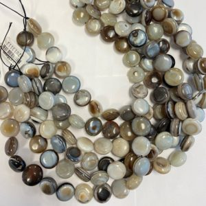 Shop Agate Bead Shapes! Agate 15x7mm, 18x7mm Coin Gemstone beads — 13.5 inch strand   Natural genuine other-shape Agate beads for beading and jewelry making.  #jewelry #beads #beadedjewelry #diyjewelry #jewelrymaking #beadstore #beading #affiliate #ad