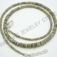 Alexandrite Necklace, Natural Alexandrite Chrysoberyl Necklace, Rondelle Necklace, Gemstone Necklace, Beaded Necklace, Adjustable Necklace | Natural genuine Gemstone jewelry. Buy crystal jewelry, handmade handcrafted artisan jewelry for women.  Unique handmade gift ideas. #jewelry #beadedjewelry #beadedjewelry #gift #shopping #handmadejewelry #fashion #style #product #jewelry #affiliate #ad