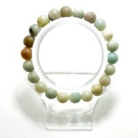 Muti-color Amazonite Smooth Round Sphere Gemstone Beads Size 6mm 8mm 10mm Stretch Elastic Cord Bracelet Pgb89 | Natural genuine Gemstone jewelry. Buy crystal jewelry, handmade handcrafted artisan jewelry for women.  Unique handmade gift ideas. #jewelry #beadedjewelry #beadedjewelry #gift #shopping #handmadejewelry #fashion #style #product #jewelry #affiliate #ad
