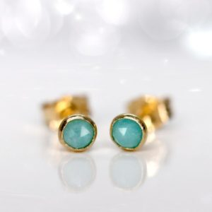 Shop Amazonite Earrings! Amazonite Stud Earrings, Tiny Greeny-blue Amazonite Earrings,  Minimalist 3mm Amazonite Studs, Silver Or Gold Stacking Earrings | Natural genuine Amazonite earrings. Buy crystal jewelry, handmade handcrafted artisan jewelry for women.  Unique handmade gift ideas. #jewelry #beadedearrings #beadedjewelry #gift #shopping #handmadejewelry #fashion #style #product #earrings #affiliate #ad