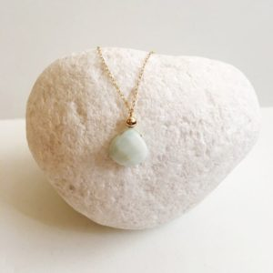 Shop Amazonite Pendants! Amazonite Pendant Necklace, Amazonite Gemstone, Dainty Necklace, Simple Necklace, Minimalist Necklace, Gift For Her | Natural genuine Amazonite pendants. Buy crystal jewelry, handmade handcrafted artisan jewelry for women.  Unique handmade gift ideas. #jewelry #beadedpendants #beadedjewelry #gift #shopping #handmadejewelry #fashion #style #product #pendants #affiliate #ad