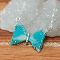 Silver Amazonite Butterfly Pendant, 7 Chakra Pendant, Healing Amazonite, Feminine Energy | Natural genuine Gemstone jewelry. Buy crystal jewelry, handmade handcrafted artisan jewelry for women.  Unique handmade gift ideas. #jewelry #beadedjewelry #beadedjewelry #gift #shopping #handmadejewelry #fashion #style #product #jewelry #affiliate #ad