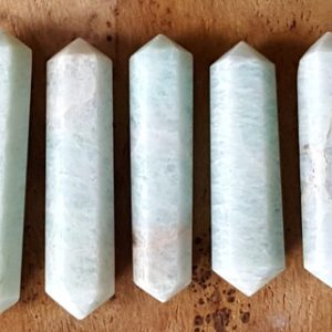 Amazonite Double Terminated Point – Hand Cut Natural Stone Point For Crystal Grids Or Terrarium 143 | Natural genuine stones & crystals in various shapes & sizes. Buy raw cut, tumbled, or polished gemstones for making jewelry or crystal healing energy vibration raising reiki stones. #crystals #gemstones #crystalhealing #crystalsandgemstones #energyhealing #affiliate #ad
