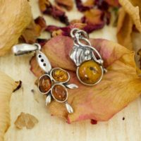 Golden Amber Leaf Pendants / / Amber Jewelry / / Amber Pendant / / Silver Jewelry / / Sterling Silver / / Village Silversmith | Natural genuine Gemstone jewelry. Buy crystal jewelry, handmade handcrafted artisan jewelry for women.  Unique handmade gift ideas. #jewelry #beadedjewelry #beadedjewelry #gift #shopping #handmadejewelry #fashion #style #product #jewelry #affiliate #ad