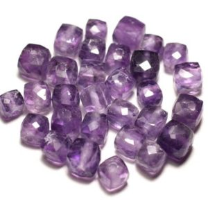Shop Amethyst Faceted Beads! Stone – Amethyst Faceted Cube 5-7mm – 8741140020122 Bead 1pc-   Natural genuine faceted Amethyst beads for beading and jewelry making.  #jewelry #beads #beadedjewelry #diyjewelry #jewelrymaking #beadstore #beading #affiliate #ad