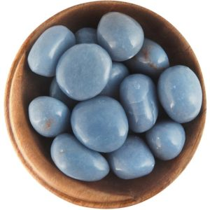 Shop Tumbled Angelite Crystals & Pocket Stones! 1 Angelite – Ethically Sourced Tumbled Stone   Natural genuine stones & crystals in various shapes & sizes. Buy raw cut, tumbled, or polished gemstones for making jewelry or crystal healing energy vibration raising reiki stones. #crystals #gemstones #crystalhealing #crystalsandgemstones #energyhealing #affiliate #ad