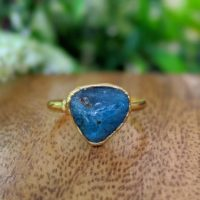 Natural Apatite Ring, Blue Apatite Ring, Blue Stone Ring, Alternative Engagement Ring, Blue Gemstone Ring, Promise Ring, Apatite Boho Ring | Natural genuine Gemstone jewelry. Buy handcrafted artisan wedding jewelry.  Unique handmade bridal jewelry gift ideas. #jewelry #beadedjewelry #gift #crystaljewelry #shopping #handmadejewelry #wedding #bridal #jewelry #affiliate #ad