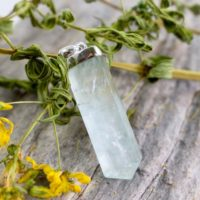 Ocean Aquamarine Crystal Pendant / / Aquamarine Jewelry / / Sterling Silver / / Village Silversmith | Natural genuine Gemstone jewelry. Buy crystal jewelry, handmade handcrafted artisan jewelry for women.  Unique handmade gift ideas. #jewelry #beadedjewelry #beadedjewelry #gift #shopping #handmadejewelry #fashion #style #product #jewelry #affiliate #ad