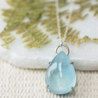 Silver Icy Blue Aquamarine Pendant, March Aquamarine Necklace, Aries Birthstone, Aquarius Crystal, Calming Crystal, Safe Travel Crystal | Natural genuine Gemstone jewelry. Buy crystal jewelry, handmade handcrafted artisan jewelry for women.  Unique handmade gift ideas. #jewelry #beadedjewelry #beadedjewelry #gift #shopping #handmadejewelry #fashion #style #product #jewelry #affiliate #ad