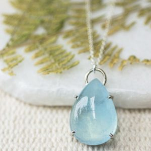 Shop Aquamarine Pendants! Silver Icy Blue Aquamarine Pendant, March Aquamarine Necklace, Aries Birthstone, Aquarius Crystal, Calming Crystal, Safe Travel Crystal   Natural genuine Aquamarine pendants. Buy crystal jewelry, handmade handcrafted artisan jewelry for women.  Unique handmade gift ideas. #jewelry #beadedpendants #beadedjewelry #gift #shopping #handmadejewelry #fashion #style #product #pendants #affiliate #ad