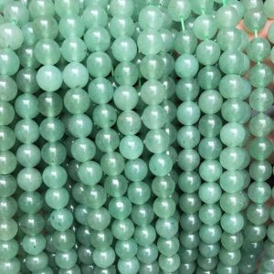 """Natural Green Aventurine Smooth Round Beads,4mm 6mm 8mm 10mm 12mm Aventurine Beads Wholesale Supply,one strand 15"""",Gemstone Beads 