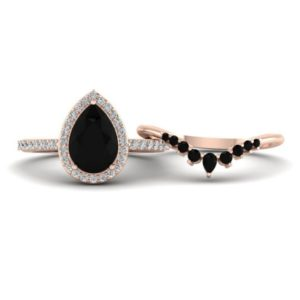 Black Onyx Engagement Ring, Pear Shaped Onyx Ring, Ring Set For Women, Gift For Wife, Lover   Natural genuine Array rings, simple unique alternative gemstone engagement rings. #rings #jewelry #bridal #wedding #jewelryaccessories #engagementrings #weddingideas #affiliate #ad