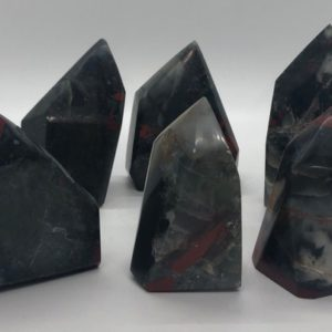 Shop Bloodstone Points & Wands! Polished Bloodstone Standing Free Form Point, Healing Stone, Healing Crystal, Chakra  Stone, Spiritual Stone | Natural genuine stones & crystals in various shapes & sizes. Buy raw cut, tumbled, or polished gemstones for making jewelry or crystal healing energy vibration raising reiki stones. #crystals #gemstones #crystalhealing #crystalsandgemstones #energyhealing #affiliate #ad