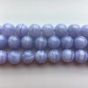 Shop Blue Lace Agate Round Beads! Blue Lace Agate Grade A Natural Round Gemstone Bead 4/6/8/10mm 15''L   Natural genuine round Blue Lace Agate beads for beading and jewelry making.  #jewelry #beads #beadedjewelry #diyjewelry #jewelrymaking #beadstore #beading #affiliate #ad