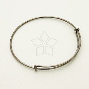 Shop Charm Bracelet Blanks! Br-017-br / 1 Pcs – Adjustable Bangle Bracelet For Charms, Bracelet Blanks, Black(gun Metal) Plated Over Brass / 15 Gauge (1.5mm)   Shop jewelry making and beading supplies, tools & findings for DIY jewelry making and crafts. #jewelrymaking #diyjewelry #jewelrycrafts #jewelrysupplies #beading #affiliate #ad