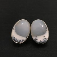 Brazilian Dendritic Agate Earrings In Sterling Silver | Natural genuine Gemstone jewelry. Buy crystal jewelry, handmade handcrafted artisan jewelry for women.  Unique handmade gift ideas. #jewelry #beadedjewelry #beadedjewelry #gift #shopping #handmadejewelry #fashion #style #product #jewelry #affiliate #ad
