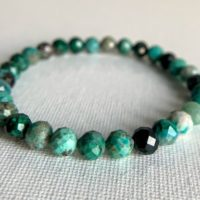 6mm Aaa Faceted Genuine Chrysocolla Stretch Bracelet, Earth Crystal, Purify Aura, Connect Higher Self, Eases Fear Anxiety, Sagittarius Gifts | Natural genuine Gemstone jewelry. Buy crystal jewelry, handmade handcrafted artisan jewelry for women.  Unique handmade gift ideas. #jewelry #beadedjewelry #beadedjewelry #gift #shopping #handmadejewelry #fashion #style #product #jewelry #affiliate #ad