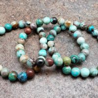 Chrysocolla Bracelet Strand, 7 Inch   Natural genuine Gemstone jewelry. Buy crystal jewelry, handmade handcrafted artisan jewelry for women.  Unique handmade gift ideas. #jewelry #beadedjewelry #beadedjewelry #gift #shopping #handmadejewelry #fashion #style #product #jewelry #affiliate #ad