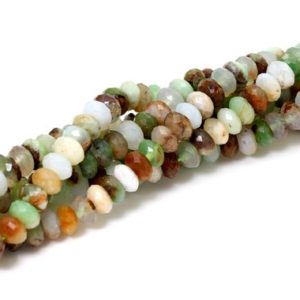 Shop Chrysoprase Faceted Beads! Natural Chrysoprase, Faceted Rondelle Chrysoprase Loose Gemstone Beads – RDF70 | Natural genuine faceted Chrysoprase beads for beading and jewelry making.  #jewelry #beads #beadedjewelry #diyjewelry #jewelrymaking #beadstore #beading #affiliate #ad